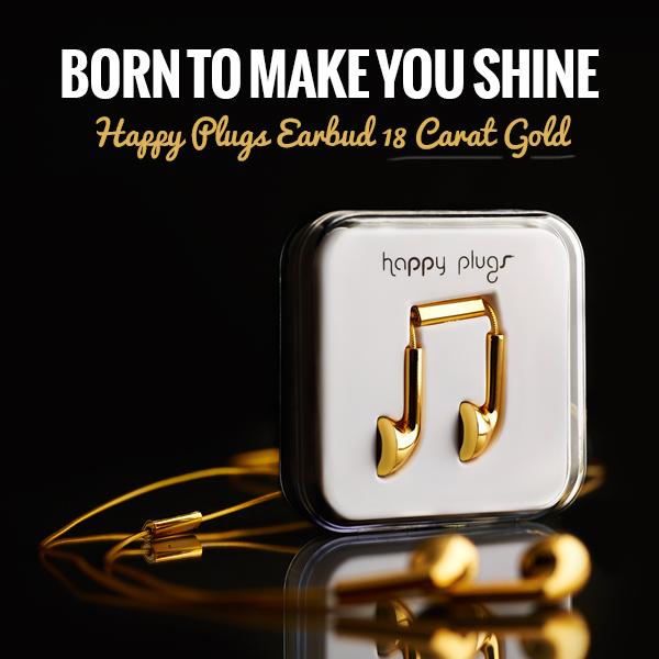 Happy Plugs Earbud 18 Carat Gold