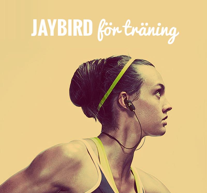 Jaybird trådlösa hörlurar för träning